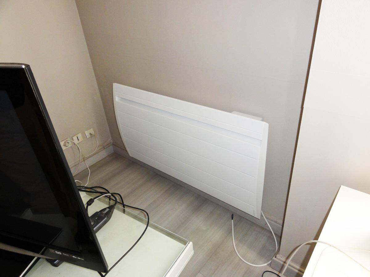Dimelec électricité générale techniciens qualifiés installation chauffages électriques ATLANTIC Nirvana digital à la Gendarmerie de Saint-Médard