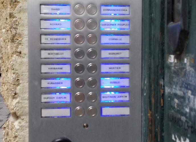 Réfection plaque d'interphone